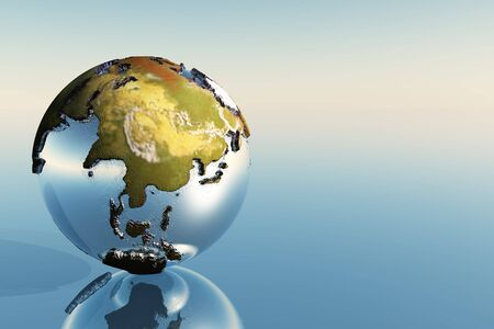 A world globe showing the continents of India, Asia and Japan. Stock Photo - 5783472
