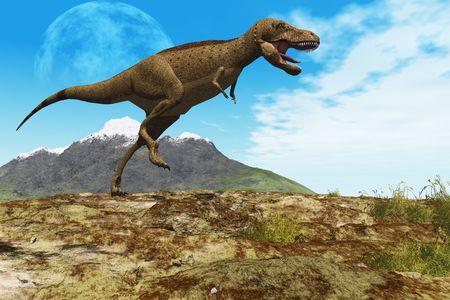 tiranosaurio rex: Pisa GROUND - un Tyrannosaurus Rex dinosaurio le guiar� a trav�s de su territorio.