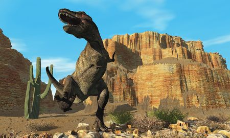triassic: T-Rex - A T-Rex roars his defiance to all other dinosaurs in his territory.