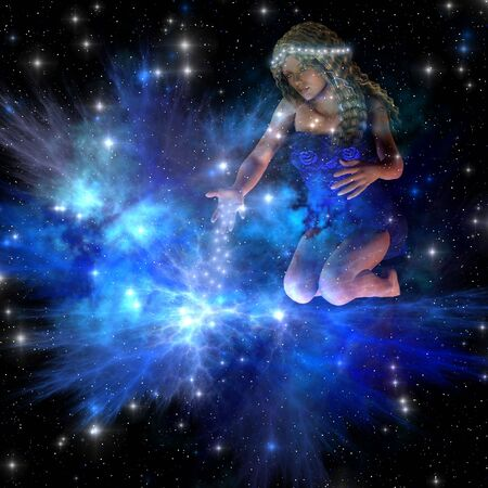 cosmos: Vesta - Vesta spreads bright stars among the constellations of the universe.