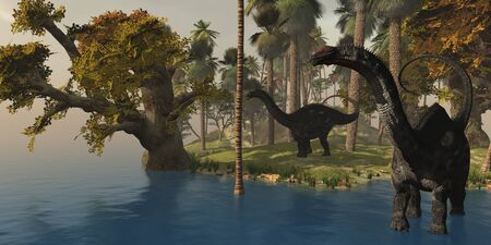 triassic: Apatasaurus Island - Two Apatasaurus dinosaurs visit an island in prehistoric times.