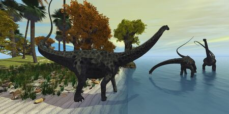 behemoth: Diplodocus Island - Three huge Diplodocus dinosaurs visit an island in the prehistoric era.