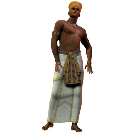 Egyptian Man 01 - A portrait of an Egyptian man and the fashion in the time of the pharoahs and rulers of ancient Egypt. 版權商用圖片