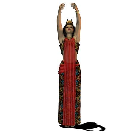 Mujer egipcia 02 - Un retrato de una mujer egipcia y la moda en la época de los faraones y los gobernantes del antiguo Egipto. Foto de archivo - 11106315