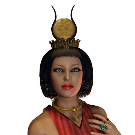 Mujer egipcia 03 - Un retrato de una mujer egipcia y la moda en la época de los faraones y los gobernantes del antiguo Egipto. Foto de archivo - 11106311
