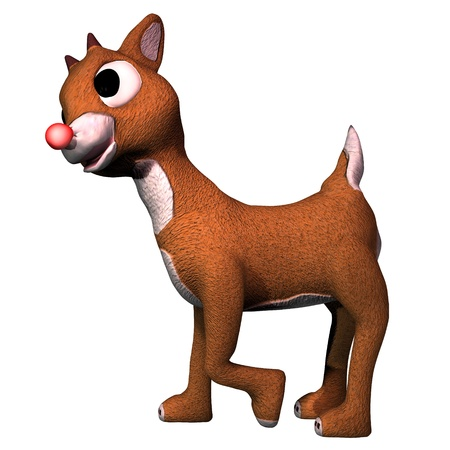 rudolf: Rudolf - Rudolf the red-nosed reindeer in cartoon format for Christmas. This is one of Santa