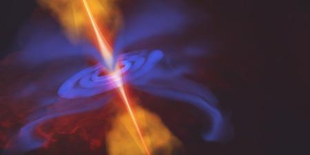 zwart gat: Blackhole in de ruimte - een zwart gat is een gebied van kromgetrokken ruimte die iets voorkomt ontsnappen waaronder licht