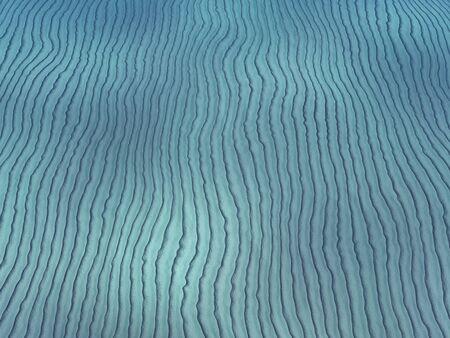 Sand Waves - De onderkant van de zeebodem met zand rimpelingen en richels