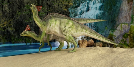cretaceous: Olorotitan - The Olorotitan was a duckbilled dinosaur from the Late Cretaceous and was found in Russia