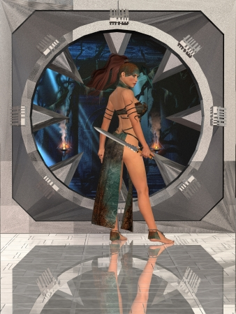 Rose Woman Warrior - Rose finds herself in strange surroundings when she investigates a ship  photo