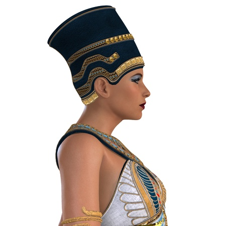 Egyptian Nefertiti Face - What Nefertiti, a queen of ancient Egypt, may have looked like in life  photo