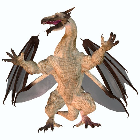 brute: Motley Dragon - A creature of myth and fantasy the dragon is a fierce flying monster with horns and large teeth