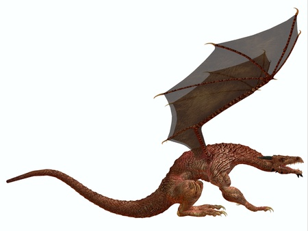 Orange Dragon - A creature of myth and fantasy the dragon is a fierce flying monster with horns and large teeth