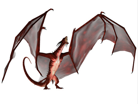 flying dragon: Blood Dragon Scream - A creature of myth and fantasy the dragon is a fierce flying monster with horns and large teeth