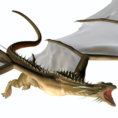 dragon fire: Blue Wasp Dragon Swoop - A creature of myth and fantasy the dragon is a fierce flying monster with horns and large teeth  Stock Photo