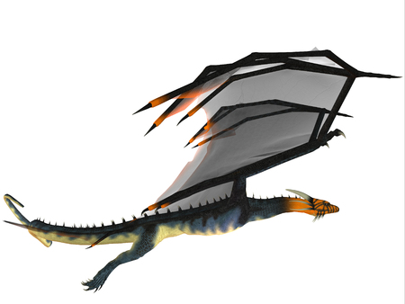 Blue Wasp Dragon - A creature of myth and fantasy the dragon is a fierce flying monster with horns and large teeth