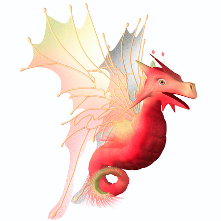 Cranberry Faerie Dragon - A creature of myth and fantasy the dragon is a friendly animal with horns and wings  photo
