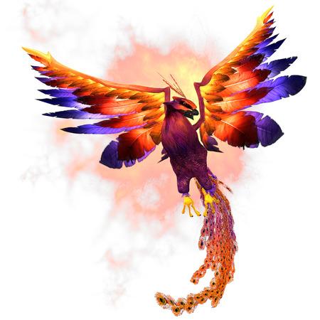 Phoenix Rising - L'uccello di fuoco Phoenix è un simbolo mitico di rigenerazione o di rinnovamento della vita Archivio Fotografico - 23905115