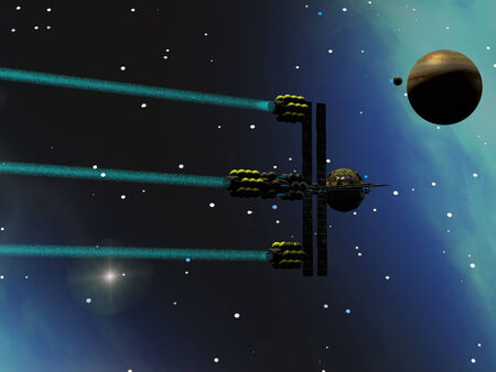 propulsion: A star-ship from Earth with ion drive propulsion explores the cosmos