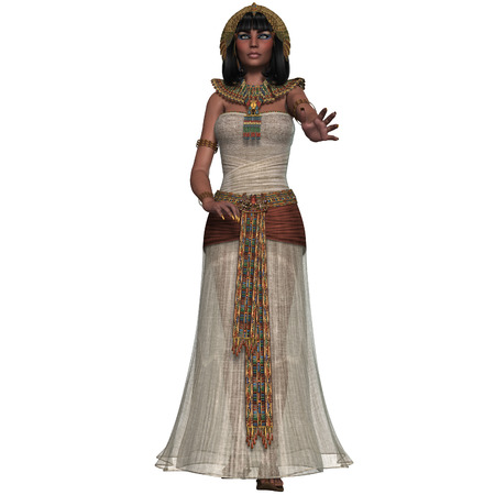 Egyptian Princess - An Egyptian lady with traditional clothing from the Old Kingdom of Egypt  photo