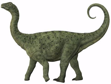 Saltasaurus Juvenile - Saltasaurus was a sauropod dinosaur of the Cretaceous Period of Argentina Фото со стока - 27316950