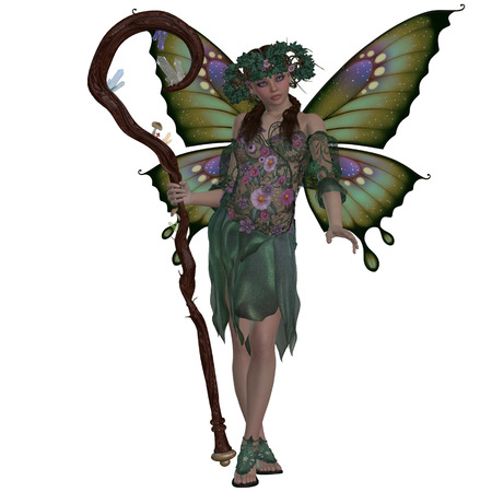 mirage: Spring Fairy - A fairy is a mythical creature of folklore and mystery representing the colors of Spring