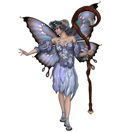Winter Fairy - A fairy is a mythical creature of folklore and mystery dressed the colors of winter