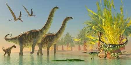 Argentinosaurus in Lake  photo