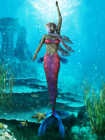 sea nymph: Ocean Mermaid