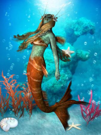 seawater: Seawater Mermaid