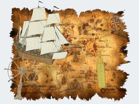 Treasure Map - A treasure map marks the location of buried treasure, a lost mine, a valuable secret or a hidden locale