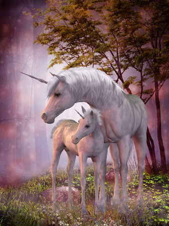 Unicorns Mare and Foal