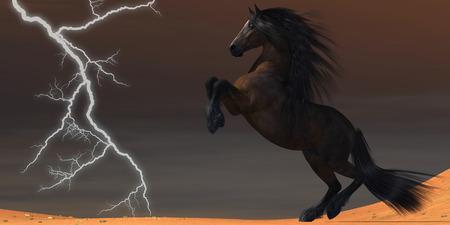 Desert Lightning Horse  photo