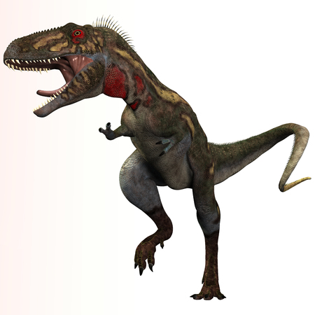 Nanotyrannus was a theropod carnivorous dinosaur that lived in the Cretaceous Period of North America  Фото со стока
