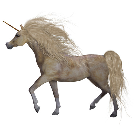 filly: Buttermilk Unicorn - The Unicorn is a mythical creature that has a horn on its forehead and the body of a horse.