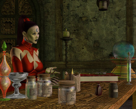 diabolist: Witch Book - A witch teaches her students about potions from her magic spell book.
