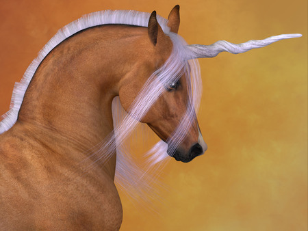 dun: A Unicorn is a creature of fantasy and mythology which has a horn on its head, a lions tail and cloven hooves.