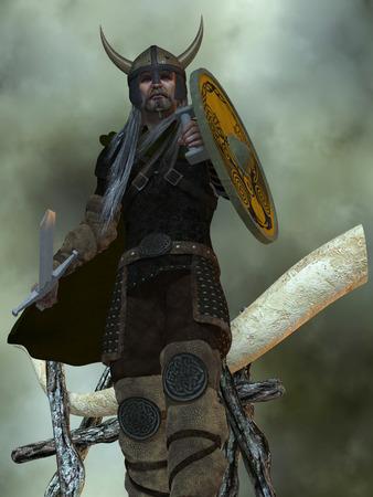 vikingo: La civilización vikinga eran un pueblo marinero del norte de Europa que colonizaron lugares como Groenlandia, Islandia y el este de Canadá.