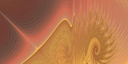 depiction: Golden Ripple - An abstract fractal design representing interweaving swirls in golden colors.