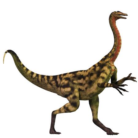 was: Deinocheirus over White - Deinocheirus was an ostrich dinosaur that lived in the Late Cretaceous Era of Mongolia.