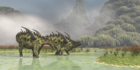Gigantspinosaurus Dinosaurs   Gigantspinosaurus was a herbivorous dinosaur that lived in China in the Jurassic Period.