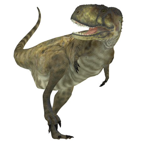 lived: Abelisaurus Predator   Abelisaurus was a carnivorous theropod dinosaur that lived in the Cretaceous Period of Argentina. Stock Photo