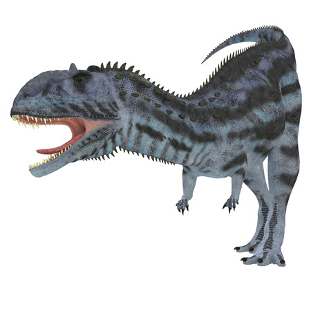 cretaceous: Majungasaurus Predator   Majungasaurus was a carnivorous theropod dinosaur that lived in Madagascar in the Cretaceous Period. Stock Photo