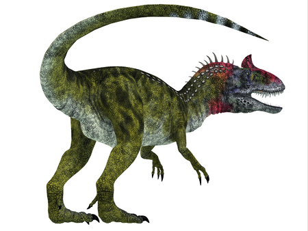 Cryolophosaurus Dinosaur Tail - Cryolophosaurus was a theropod dinosaur that lived in Antarctica during the Jurassic Period. Stock fotó