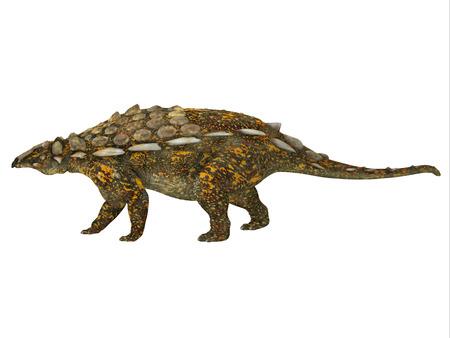 armored: Gargoyleosaurus Side Profile - Gargoyleosaurus was an ankylosaur armored herbivorous dinosaur that lived in the Jurassic Age of Wyoming, North America.