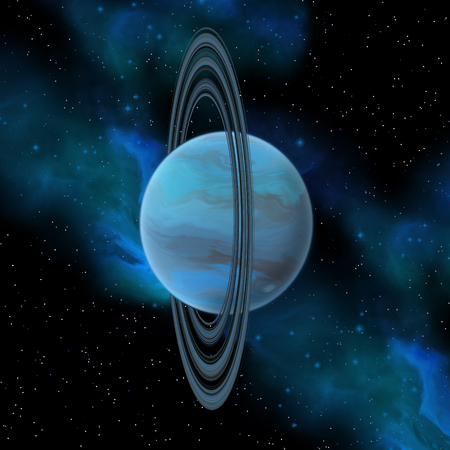 uranus: Uranus is the seventh planet in our solar system and has 27 moons and a vertical ring system.