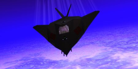 stealth: Stealth Fighter Jet - A pilot takes a Stealth Fighter jet through flight maneuvers on a training mission.