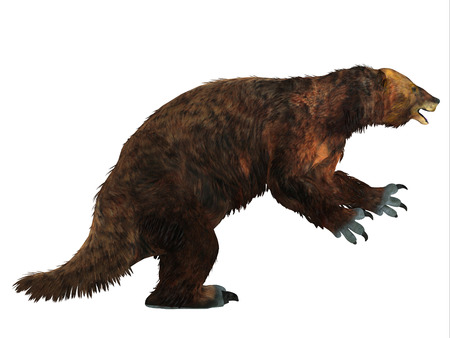 Megatherium Sloth Side Profile - Megatherium was one of the largest ground sloths that lived in Central and South America in the Pliocene to the Pleistocene Periods. Reklamní fotografie