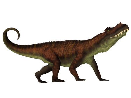triassic: Prestosuchus Side Profile - Prestosuchus was a carnivorous archosaur dinosaur that lived in the Triassic Period of Brazil.