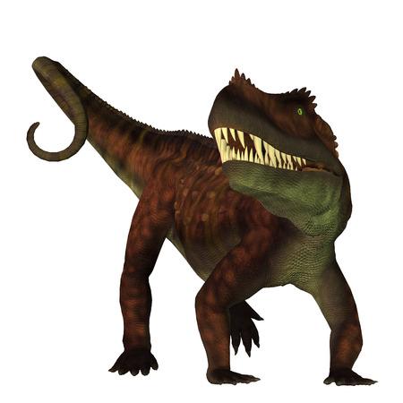 triassic: Prestosuchus on White - Prestosuchus was a carnivorous archosaur dinosaur that lived in the Triassic Period of Brazil.